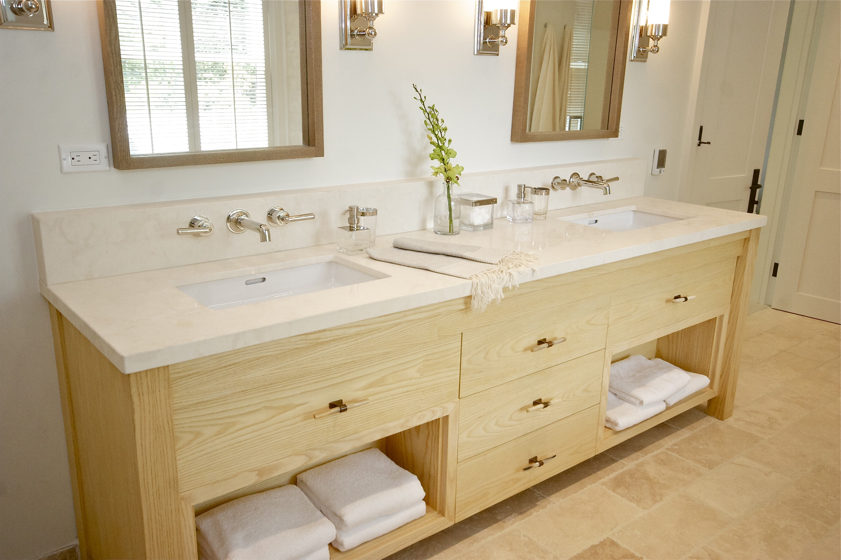Limestone bathroom countertops