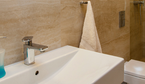 Travertine bathroom countertops