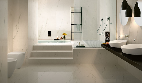 Porcelain bathroom countertops